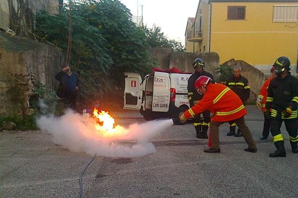 Renato Civita Sicurezza Antincendio - Dimostrazione pratica