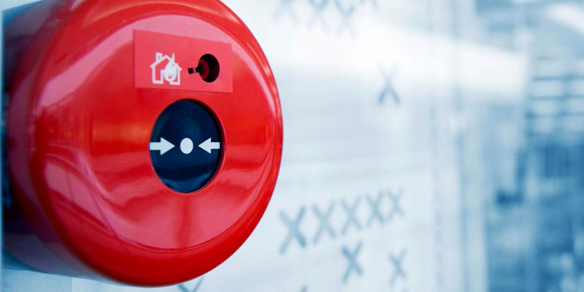 Valutazione dei rischi - Primo piano dispositivo antincendio